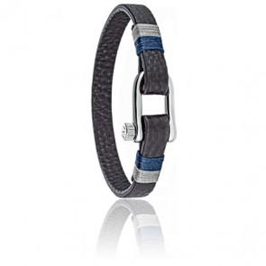 Bracelet Vela Cuir & Acier SAJC05