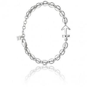Bracelet Nobile Zircon Noir & Acier SAKB08