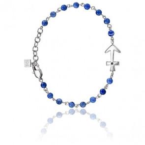 Bracelet Nobile Cristaux Bleu  & Acier
