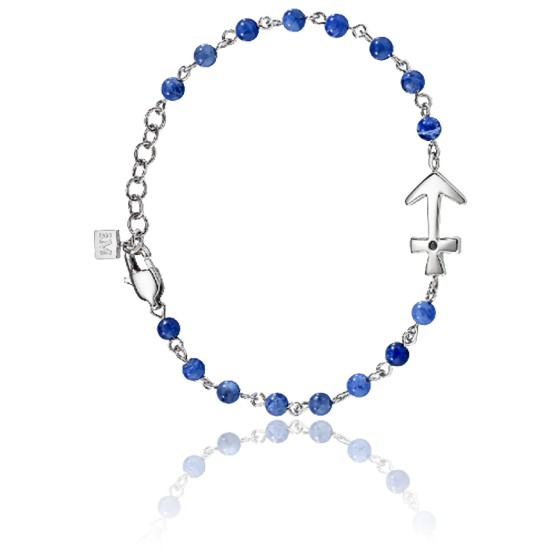 Bracelet Nobile Cristaux Bleu  & Acier SAKB09