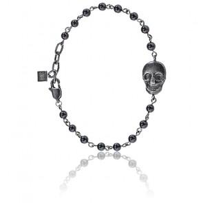 Bracelet Nobile Onyx & Acier Noir