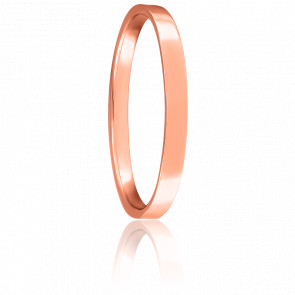 Alliance Bonheur 2 mm Helia Or Rose 18K