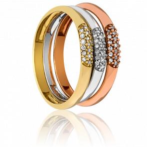 Bagues Vindhya Trio Ors et Diamants