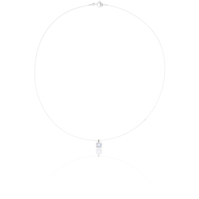 collier fil de p che diamant or blanc 18k diamond lady ocarat. Black Bedroom Furniture Sets. Home Design Ideas