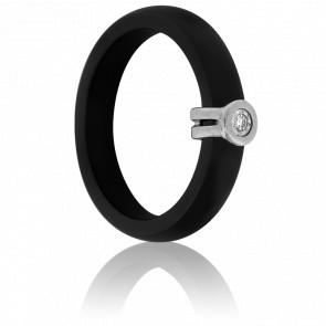 Bague Oeil de Diamant Noire - Ultimate Ceramic