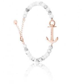 Bracelet Anchor Spirit Marble IP Or Rosé