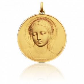 Médaille Vierge Amabilis Or Jaune 18K