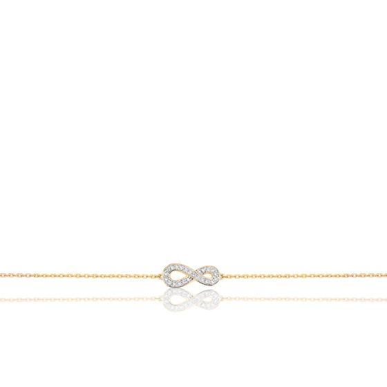 Bracelet Infini Diamants & Or Jaune 18K