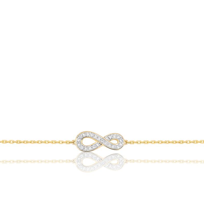 bracelet infini diamants or jaune 18k joelli ocarat. Black Bedroom Furniture Sets. Home Design Ideas