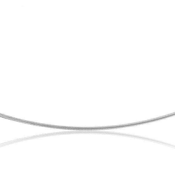 Collier Câble Cléophée, Or blanc 18k, longueur 50 cm