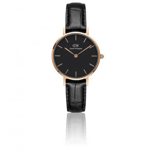 Classic Petite Reading 32 mm Cadran Noir/PVD Or Rose DW00100167