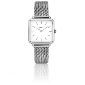 Montre La Garçonne Silver Mesh/White CL60001