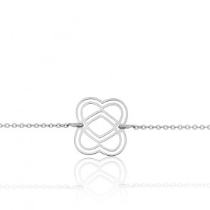 Bracelet Heart Small Argent Massif
