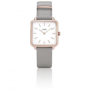 Montre La Garçonne Rose Gold White/Stone Grey CL60005