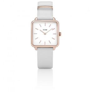 Montre La Garçonne Rose Gold White/White CL60006