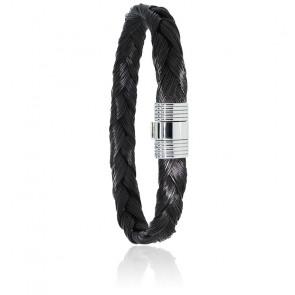 Bracelet 606 Poils de Girafe Tressé & Or Blanc 18K