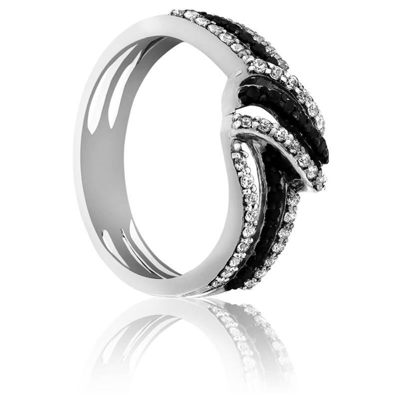 bague munnar or blanc et diamants noirs kundan ocarat. Black Bedroom Furniture Sets. Home Design Ideas