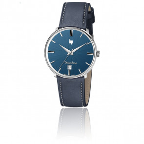 Montre Dauphine 38 mm All blue Leather 671432