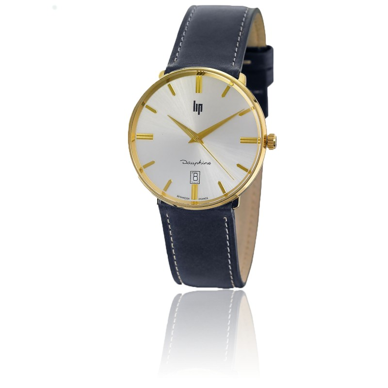 Montre Dauphine 38 mm Gold / Blue Leather 671433