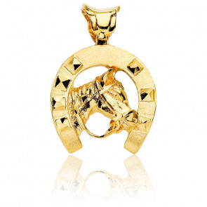 Pendentif Cheval Chanceux Or Jaune 18K
