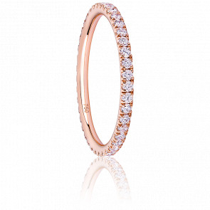Alliance Eternity Majestueuse Diamants & Or Rose 18K