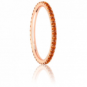 Alliance Full Eternity Saphir Orange & Or Rose 18K