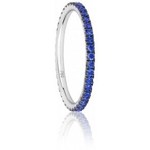 Alliance Eternity Gracieuse Saphirs Bleus & Or Blanc 18K