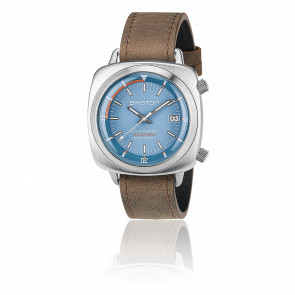Clubmaster Diver Acier Light Blue Leather (special)