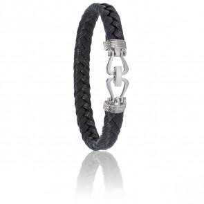 Bracelet 730 Crin de Cheval Noir & Acier