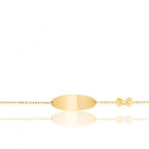 Gourmette Nœud Diamant 0,01ct Or Jaune 18K