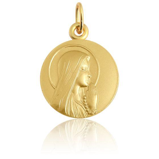 Médaille Ave Maria Auréole Or Jaune 18K
