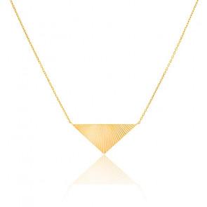 Collier Pyramide Inversée Plaqué Or jaune