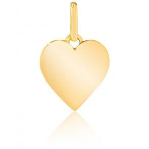 Pendentif coeur simple, or jaune 9K ou 18K