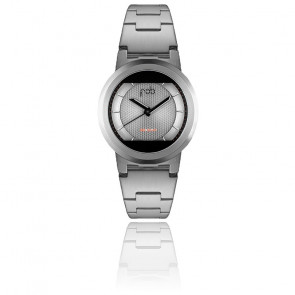 Montre Red Solar Silver