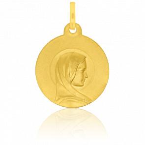Médaille  Vierge Bienveillante Profil Or Jaune 18K