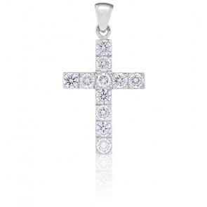 Croix Diamants 1,32 cts & Or Blanc 18K