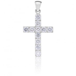 Croix or blanc 18K & diamants 1,32 carats