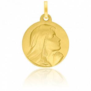 Médaille Vierge Regard Vers Le Ciel Or Jaune 18K