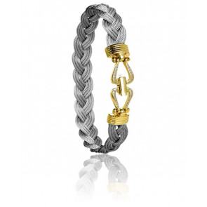 Bracelet 730 Retenue Acier & Or Jaune 18k