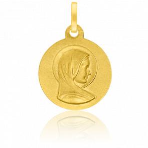 Médaille Douce Vierge 16 mm Or Jaune 18K