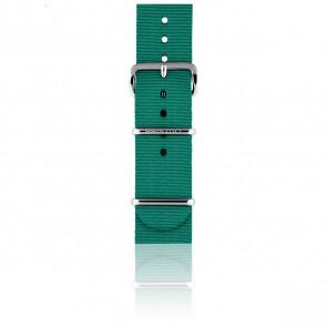 Bracelet Nato 18 mm Menthe, Longueur 230mm, Boucle silver
