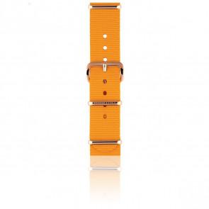 Bracelet Nato 18 mm Mangue, Longueur 230mm, Boucle PVD or rose