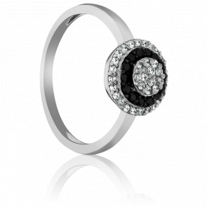 Bague Shimla Or Blanc et Diamants Noirs