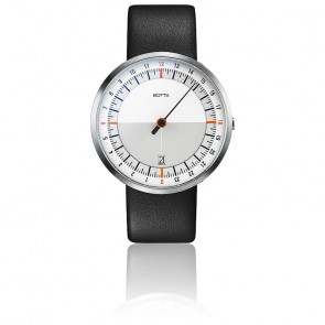 Montre UNO24 White-Orange Quartz Leather