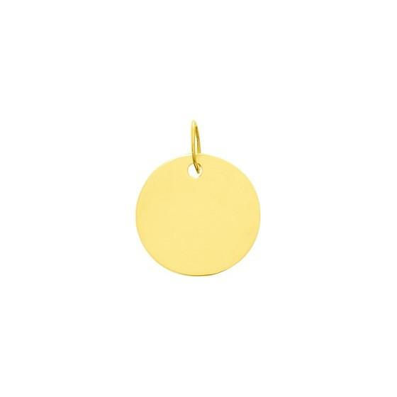 Pendentif rond à graver Or jaune