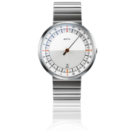 Montre UNO24 White-Orange Quartz Stainless Steel