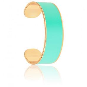Bracelet Jonc Bleu Pool & Plaqué Or Jaune