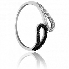 Bague Double Loop Or & Duo de Diamants