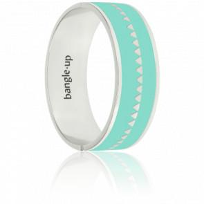 Bracelet Bollystud Bleu Pool & Plaqué Argent