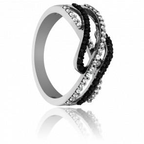 Bague Vagues Diamantées - Kundan